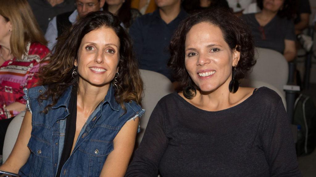 Luciana e Flávia, fundadoras da Casa Causa, durante o Encontro Lixo Zero